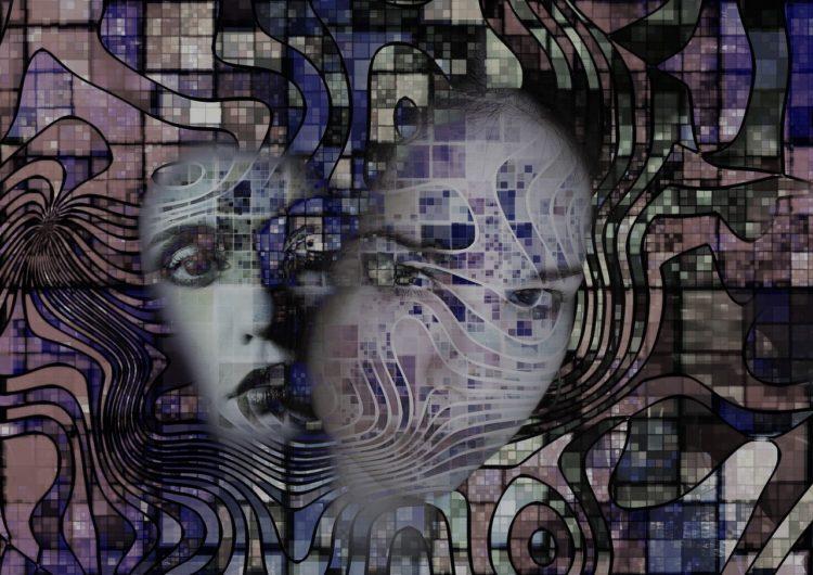 künstlerische Darstellung von Schizophrenie