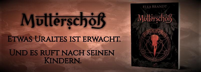 """Cover von Mutterschoß mit der Catchphrase: """"Etwas Uraltes ist erwacht. Und es ruft nach seinen Kindern."""""""